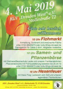Frühlingsfest mit Flohmarkt, Samen- und Pflanzenbörse und Hexenfeuer