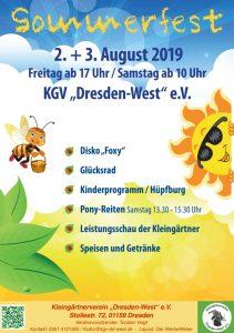 Sommerfest 02. - 03. August 2019 @ Festwiese des KGV